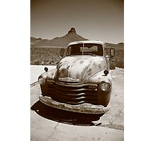 Route 66 - Classic Chevy Photographic Print