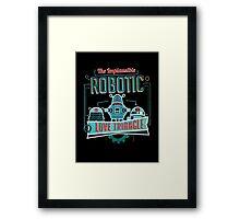 Robotic Love Triangle Framed Print