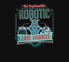 Robotic Love Triangle Unisex T-Shirt