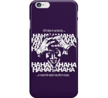 Joker's bad day iPhone Case/Skin
