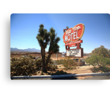 Route 66 - Hill Top Motel Metal Print