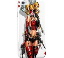 harley quinn card  iPhone Case/Skin