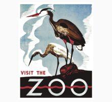 Visit the Zoo, herons, vintage retro WPA Kids Clothes