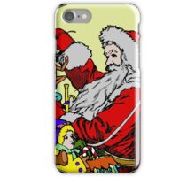 Vintage Santa and lots of toys (full color) iPhone Case/Skin