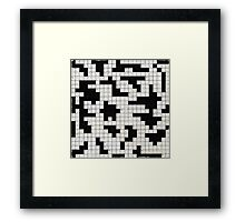 black and white puzzle Framed Print