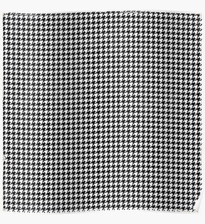 black and white pattern Poster
