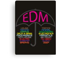 Electronic Dance Music (black) Canvas Print