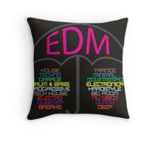 Electronic Dance Music (black) Throw Pillow