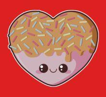 Sugar-Cute Heart One Piece - Short Sleeve