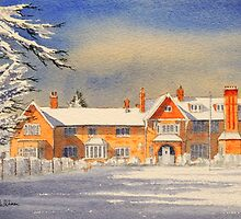 Griffin House School Snowy Day by bill holkham