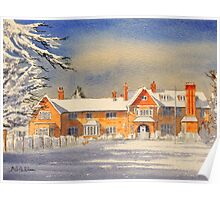 Griffin House School Snowy Day Poster