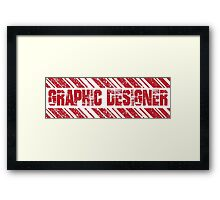 graphic designer design t-shirt Framed Print