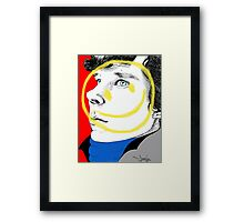 The Smiley Detective Framed Print