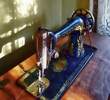 Vintage Sewing Machine and Shadow by Susan Savad