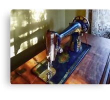 Vintage Sewing Machine and Shadow Canvas Print