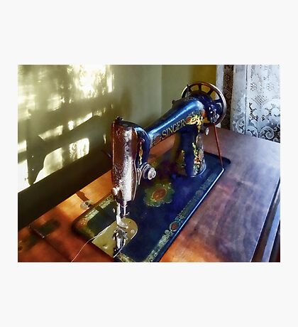 Vintage Sewing Machine and Shadow Photographic Print
