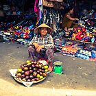 The Happy Fruit Seller by Zati