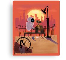 Wall-E and Eve Canvas Print