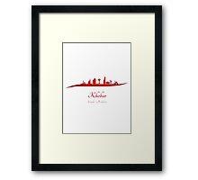 Khobar skyline in red Framed Print