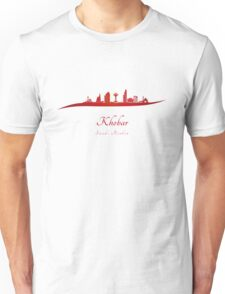 Khobar skyline in red Unisex T-Shirt