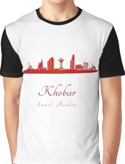 Khobar skyline in red Graphic T-Shirt