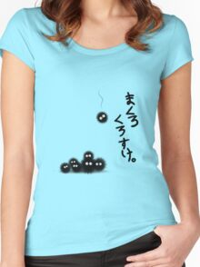 Totoro Soot Sprites  Women's Fitted Scoop T-Shirt