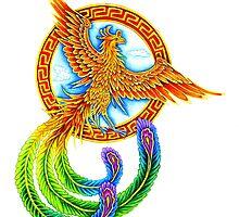 Chinese Phoenix Fenghuang by Rebecca Wang