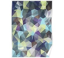Abstract Geometric Polygon Woods Poster