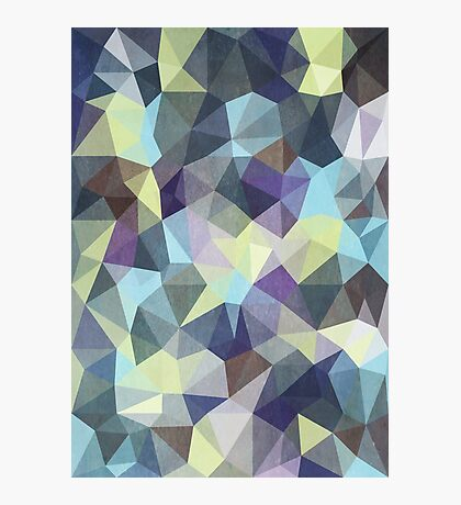 Abstract Geometric Polygon Woods Photographic Print