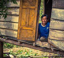 Looking through the door by Zati