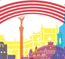 Kiev skyline pop Sticker