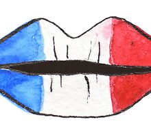 Lèvres françaises | French lips | Watercolor by likorbut