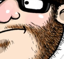 The Neckbeard (No Text) Sticker