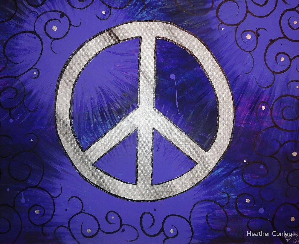 Retro Peace, purple black by Heather Conley