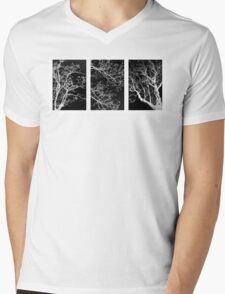 Tree Triptych Mens V-Neck T-Shirt