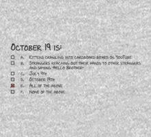 October 19 Kids Tee