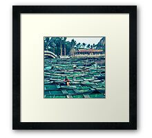 Breakfast in Tam Coc Framed Print