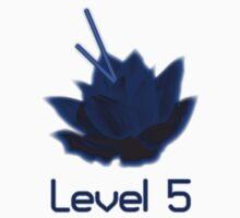 Level 5 Laser Lotus - Blue Kids Tee
