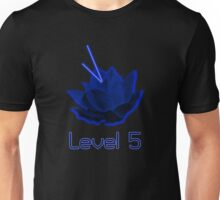 Level 5 Laser Lotus - Blue Unisex T-Shirt