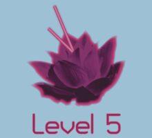 Level 5 Laser Lotus - Pink Baby Tee