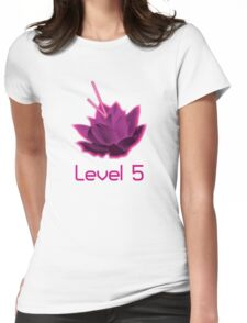 Level 5 Laser Lotus - Pink Womens Fitted T-Shirt