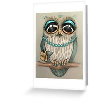 Elegant Owl Greeting Card