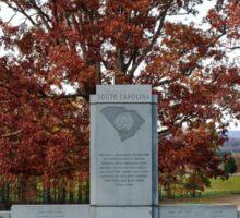 Gettysburg National Park - South Carolina Memorial Sticker