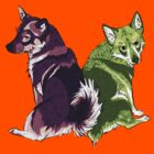 Vallhunds - Purple/Green by KatArtDesigns