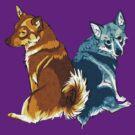 Vallhunds - Orange/Blue by KatArtDesigns