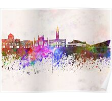Kingston Upon Hull skyline in watercolor background Poster