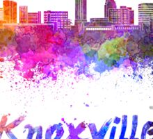 Knoxville skyline in watercolor Sticker