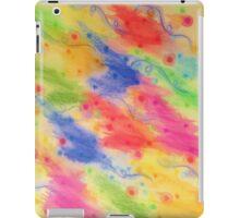 SEEING STARS 2 - Yellow Rainbow Pretty Starry Sky Abstract Watercolor Painting Feminine Pattern iPad Case/Skin