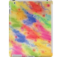SEEING STARS 2 - Yellow Rainbow Pretty Starry Sky Abstract Watercolor Painting Feminine Pattern iPad Case/Skin