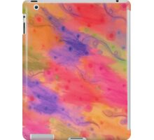SEEING STARS 3 - Peach Pink Pretty Starry Sky Abstract Watercolor Painting Lovely Feminine Pattern iPad Case/Skin